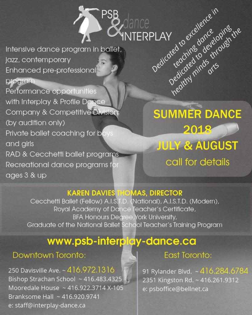 PSB1 & INTERPLAY Summer Dance